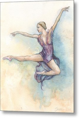 Metal Print featuring the painting Airborne by Lora Serra