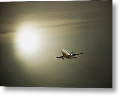 Airplane Metal Print by Darren Greenwood