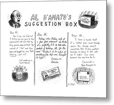 Al D'amato's Suggestion Box Metal Print by Roz Chast