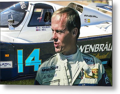 Al Holbert Metal Print by Bill Linhares