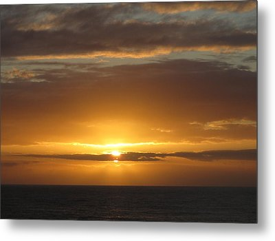Metal Print featuring the photograph Alaskan Sunset by Jennifer Wheatley Wolf