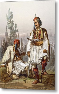 Albanians, 1865 Metal Print by Amadeo Preziosi
