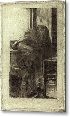Albert Besnard French, 1849 - 1934, The Roman Studio Metal Print