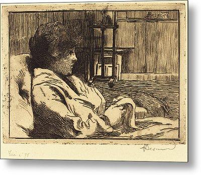 Albert Besnard French, 1849 - 1934, Woman Reading Metal Print