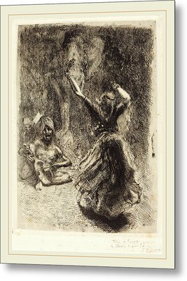 Albert Besnard, The Dancer Of Tanjore La Bayadère De Metal Print by Litz Collection