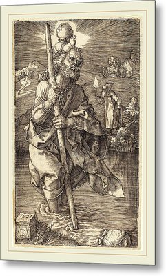 Albrecht Dürer German, 1471-1528, Saint Christopher Facing Metal Print