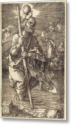 Albrecht Dürer German, 1471 - 1528, Saint Christopher Metal Print