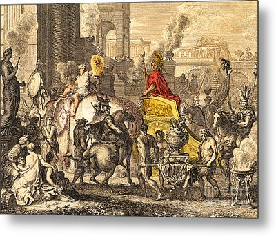 Alexander The Great Entering Babylon Metal Print by Getty Research Institute