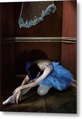 Alicia Markova In A Blue Tutu Metal Print