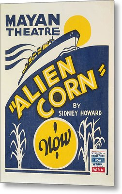 Metal Print featuring the painting Alien Corn by American Classic Art
