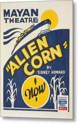 Alien Corn Metal Print by American Classic Art