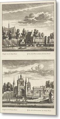 Alkmaar With City Gates And The Great Church Metal Print
