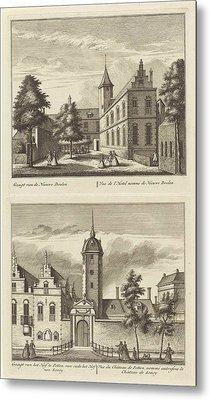 Alkmaar With Nieuwe Doelen And The Hof Van Sonoy Metal Print