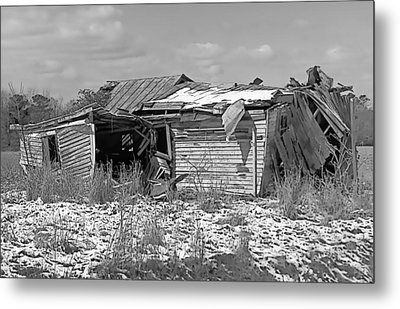 Metal Print featuring the photograph All But Gone Black And White by Victor Montgomery