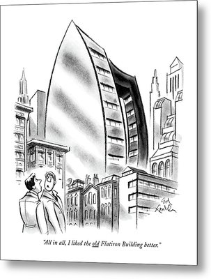 All In All, I Liked The Old Flatiron Building Metal Print by Ed Fisher