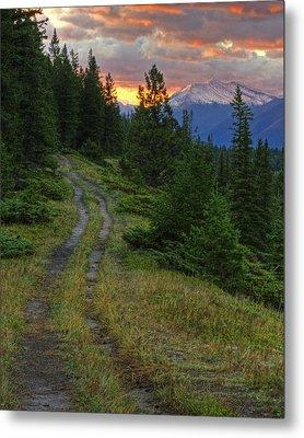 All Roads Lead To Home Metal Print by Darlene Bushue