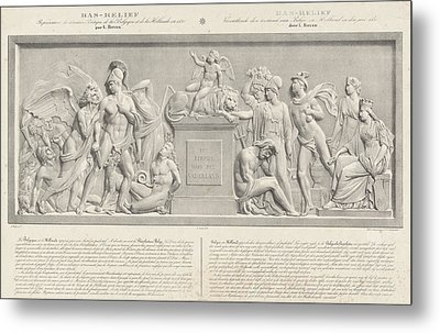 Allegorical Sculpture, The Belgian Revolution In 1830 Metal Print by Carel Christiaan Anthony Last And Desguerrois Co.