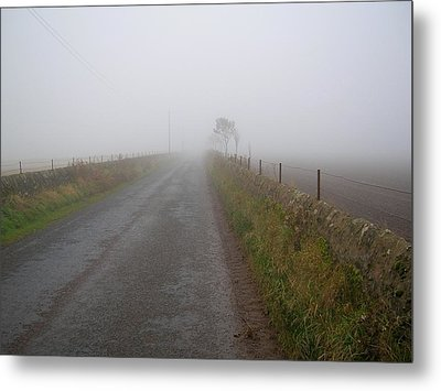 Alone And On The Path Metal Print by Tom Trimbath