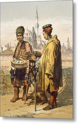Ambulant Snack Sellers, 1865 Metal Print