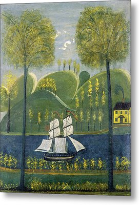 American 19th Century, Under Full Sail, Second Quarter 19th Metal Print by Quint Lox