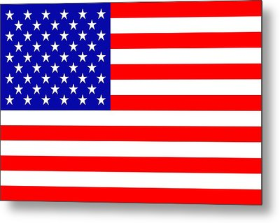 American Flag Metal Print by Tommytechno Sweden