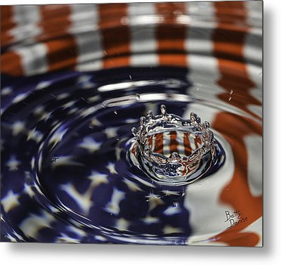 Metal Print featuring the photograph American Water Crown by Betty Denise