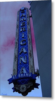 Metal Print featuring the photograph Americana Vintage Landmark Sign_3 by Renee Anderson