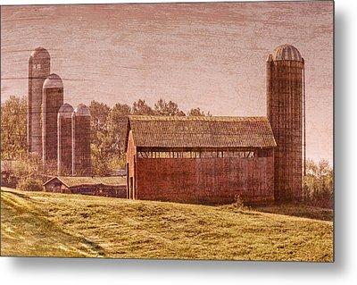 Amish Farm Metal Print by Debra and Dave Vanderlaan