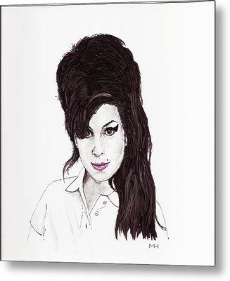 Amy Winehouse Metal Print by Martin Howard