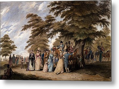An Airing In Hyde Park, 1796 Metal Print by Edward Days