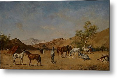 An Arabian Camp Metal Print by Eugene Fromentin