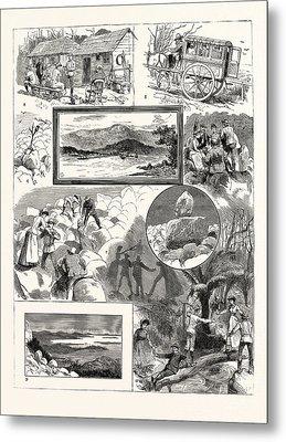 An Ascent Of Mount Wellington Tasmania 1. Mount Wellington Metal Print by English School