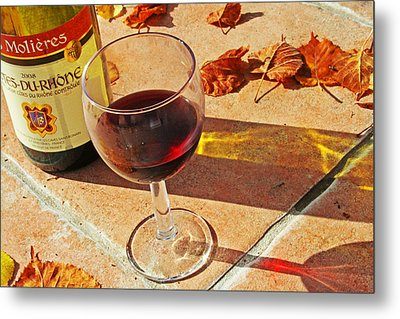 An Autumn Glass Of Red Metal Print by Georgia Fowler