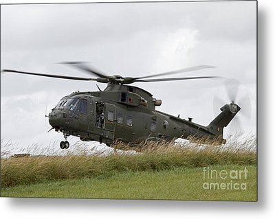 An Aw101 Merlin Helicopter Of The Royal Metal Print by Ofer Zidon