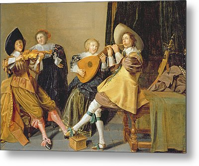An Elegant Company Playing Music In An Metal Print