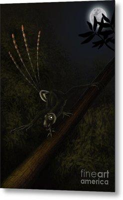 An Epidexipteryx Reacts Aggressively Metal Print by Alvaro Rozalen