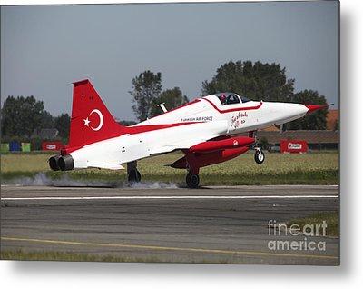 An F-5 Jet Of The Turkish Stars Metal Print