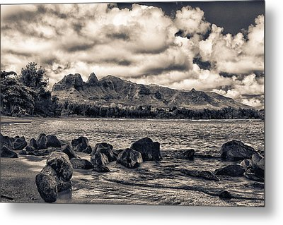 Anahola Mountains Metal Print by Robert  FERD Frank
