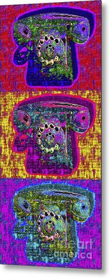 Analog A-phone Three - 2013-0121 Metal Print by Wingsdomain Art and Photography