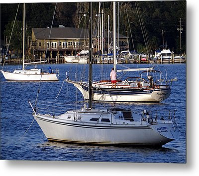 Anchored Metal Print by Tom DiFrancesca