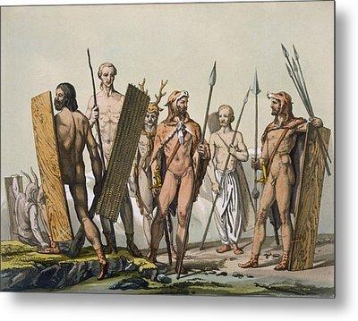 Ancient Celtic Warriors Dressed Metal Print