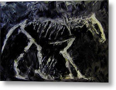 Metal Print featuring the digital art Ancient Dog Skeleton by Jim Vance