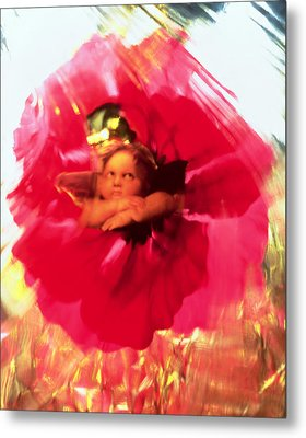Angel And Poppy Metal Print by Katherine Fawssett