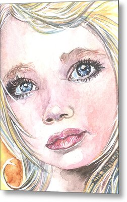 Angel Baby Metal Print