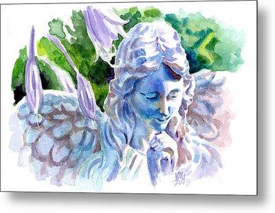 Angel In Stone Metal Print by Ken Meyer jr