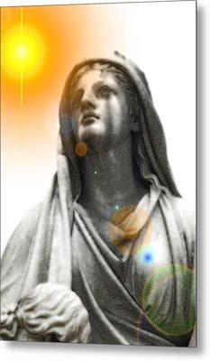 Angel In The Garden Metal Print by Scott Ware