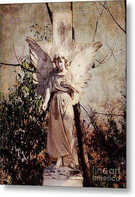 Angel Of Old Metal Print by Sonja Quintero