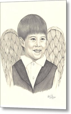 Metal Print featuring the drawing Angel Too by Patricia Hiltz