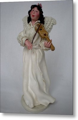 Angel With Violine Metal Print by Natalia Elerdashvili