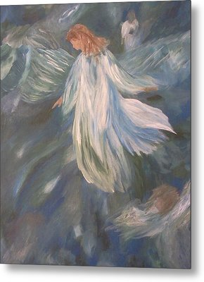 Angels Watching Over Us Metal Print by Christy Saunders Church